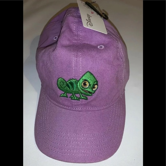 Disney Accessories - Disney Tangled Rapunzels Pascal Pink Dad Hat
